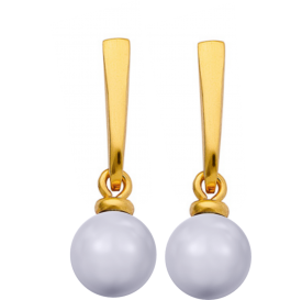 Boucles PEAR PEARL Argent...