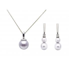Parure argent 925 et perles...