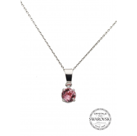 COLLIER FLORES ROSE -...