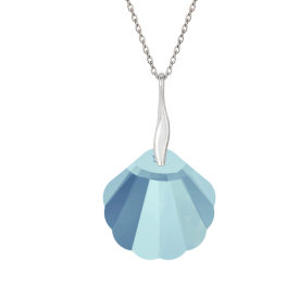 COLLIER SHELL - Argent 925...